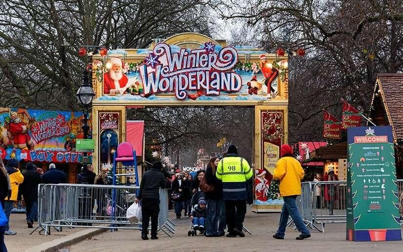 פסטיבל חג המולד בהייד פארק
